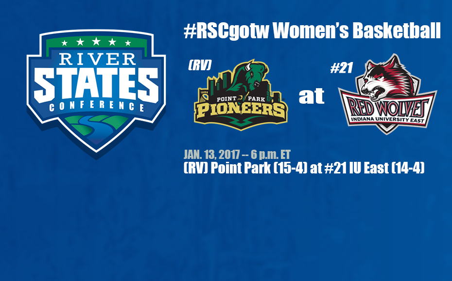 Photo for #RSCgotw WBB: (RV) Point Park (15-4) at #21 IU East (14-4) -- Friday @ 6 pm ET