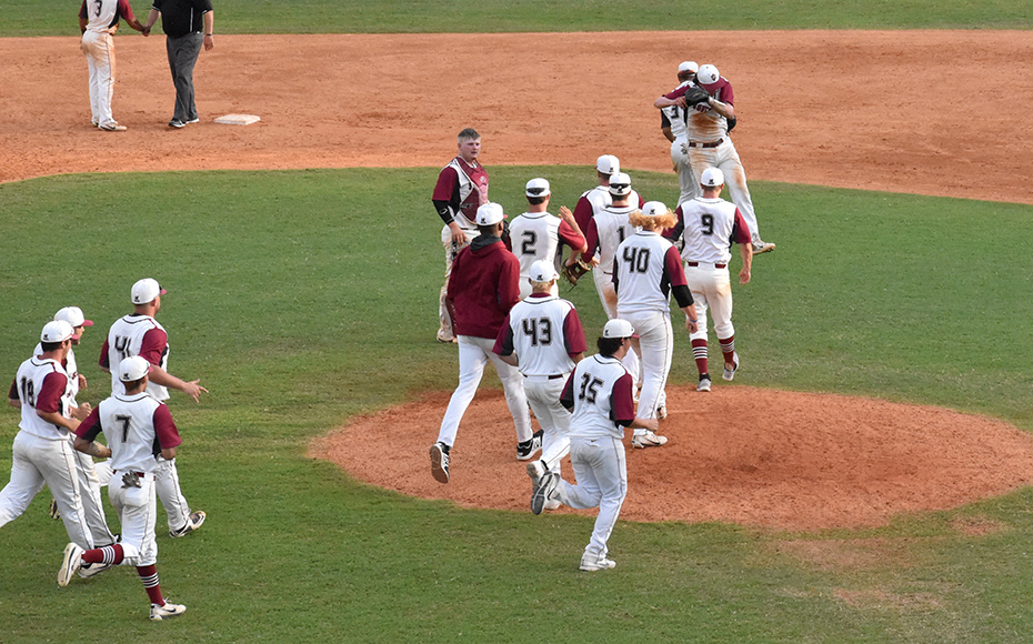 The Grenadiers celebrate after the win on Wednesday. Photo by AAC.