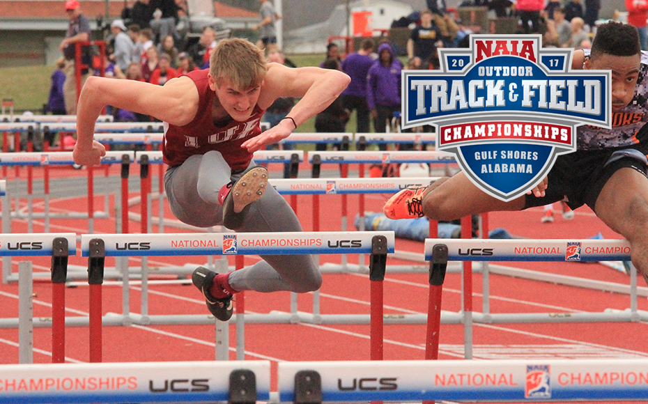 Seth Reynolds of IU East is representing the RSC in the 110 M hurdles. (IUE Photo).