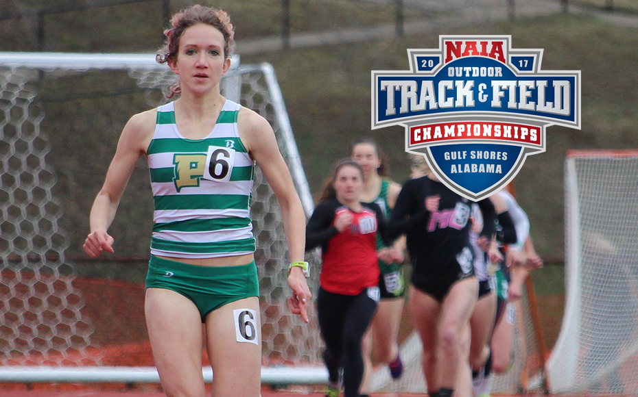 Point Park's Anna Shields ranks No. 1 in the 1,500 M and No. 2 in the 800 M (PPU Photo).