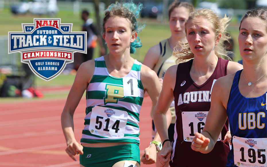 Point Park's Anna Shields during her 1500 meters NAIA national championship. Photo by NAIA.