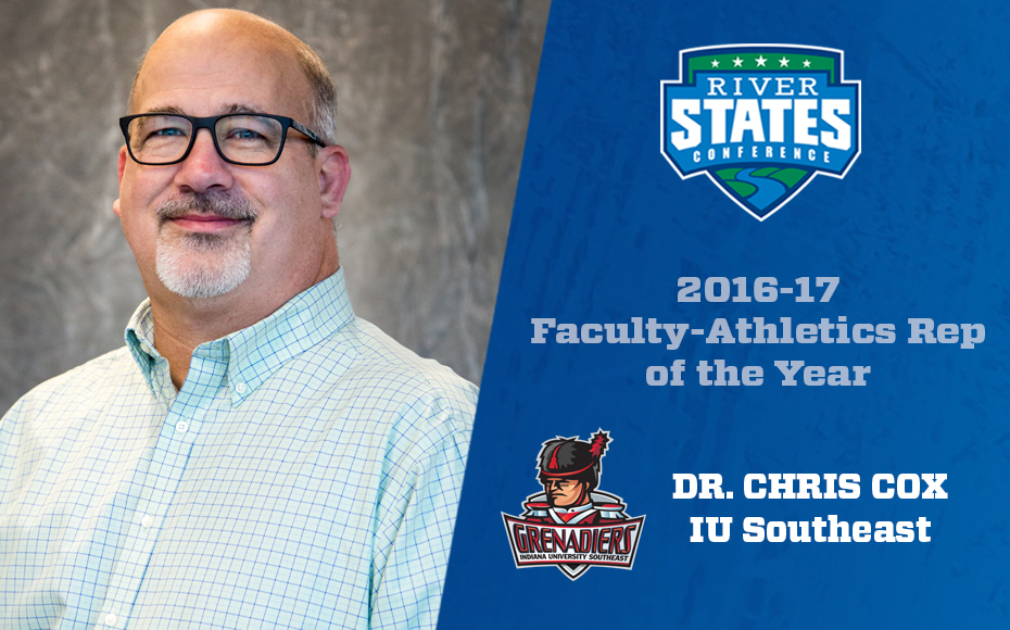 Photo for IU Southeast's Dr. Chris Cox tabbed RSC Faculty Athletics Rep of the Year